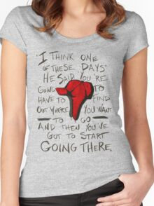 The Catcher in the Rye - Holden's Red Hunting Cap Women's Fitted Scoop T-Shirt