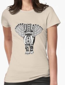 Tribal Elephant Womens Fitted T-Shirt