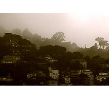 Marine layer coming thru Photographic Print