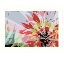 A Playful Flower Art Print
