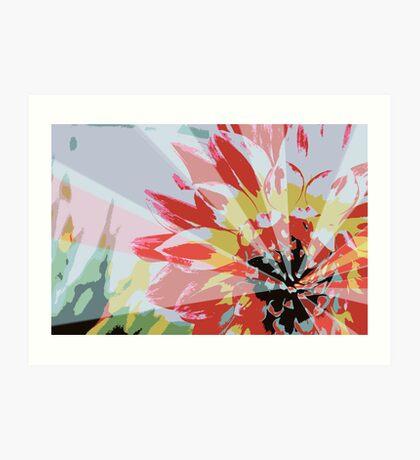 A Playful Flower Art Print