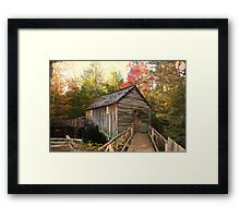 Cable Grist Mill ~ Cades Cove Tennessee Framed Print