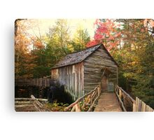 Cable Grist Mill ~ Cades Cove Tennessee Canvas Print