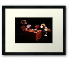 Backyard Poker Framed Print