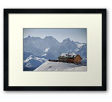 Cabane du Mont Fort, Verbier, Switzerland Framed Print
