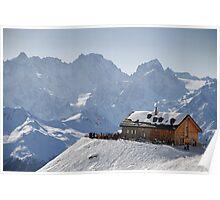 Cabane du Mont Fort, Verbier, Switzerland Poster