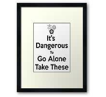 """""""it's Dangerous To Go Alone, Take these"""" - Supernatural Framed Print"""
