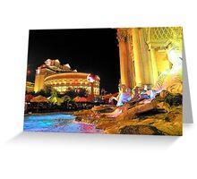 Las Vegas Caesars Palace... Greeting Card