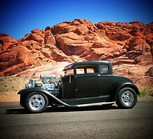 1929 Model-A/ Red Rock Las Vegas! by Rita  H. Ireland