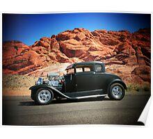 1929 Model-A/ Red Rock Las Vegas! Poster