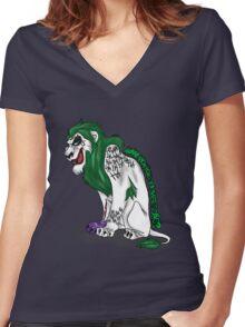 Scar as Joker Women's Fitted V-Neck T-Shirt
