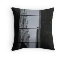 London Building Reflections Throw Pillow