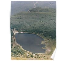 Italian Lake from above. Poster