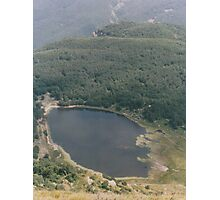 Italian Lake from above. Photographic Print