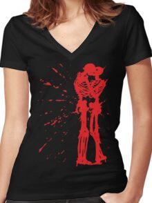 Till Death Women's Fitted V-Neck T-Shirt