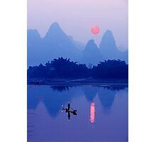 LI RIVER SUNSET - CHINA Photographic Print