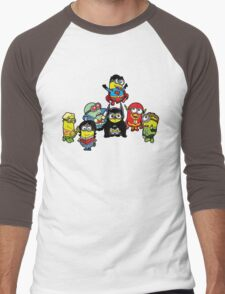 Justice League of Minions Men's Baseball ¾ T-Shirt