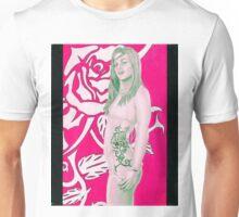 Tribal Tattoo Side Rose Unisex T-Shirt