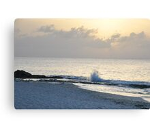 Listening to the waves rolling in 2 Canvas Print