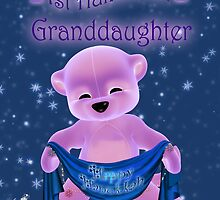 Baby's First Hanukkah Card Pink Bear by Moonlake