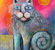Scruffy Cat by Karin Zeller