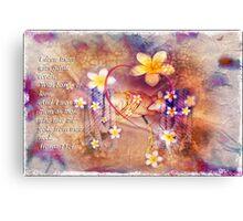 Gentle cords Canvas Print