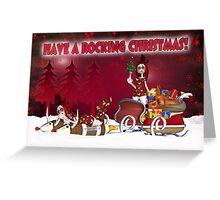 Gothic Rag Doll Christmas Card Greeting Card