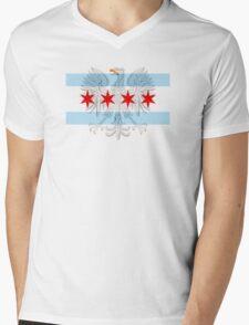 Polish Eagle Chicago Flag Mens V-Neck T-Shirt