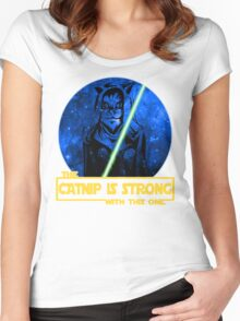 Catnip Is Strong With This One Women's Fitted Scoop T-Shirt
