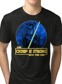 Catnip Is Strong With This One Tri-blend T-Shirt