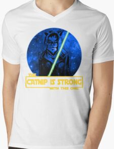 Catnip Is Strong With This One Mens V-Neck T-Shirt