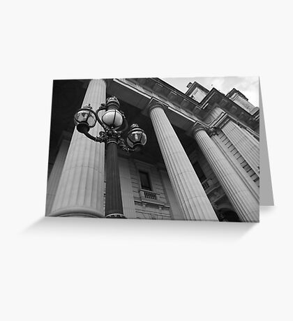 Looking Up - Parliament House, Melbourne Greeting Card