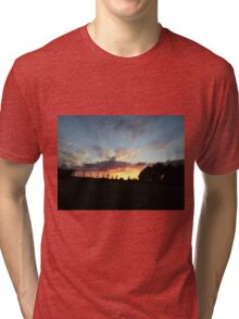 Wild sunset  - Derry Ireland  Tri-blend T-Shirt