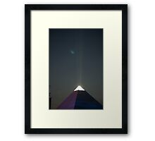 Pyramid Stage at night Framed Print