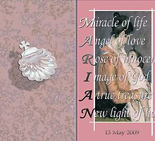 Christening Card with Acrostic   by Dulcina