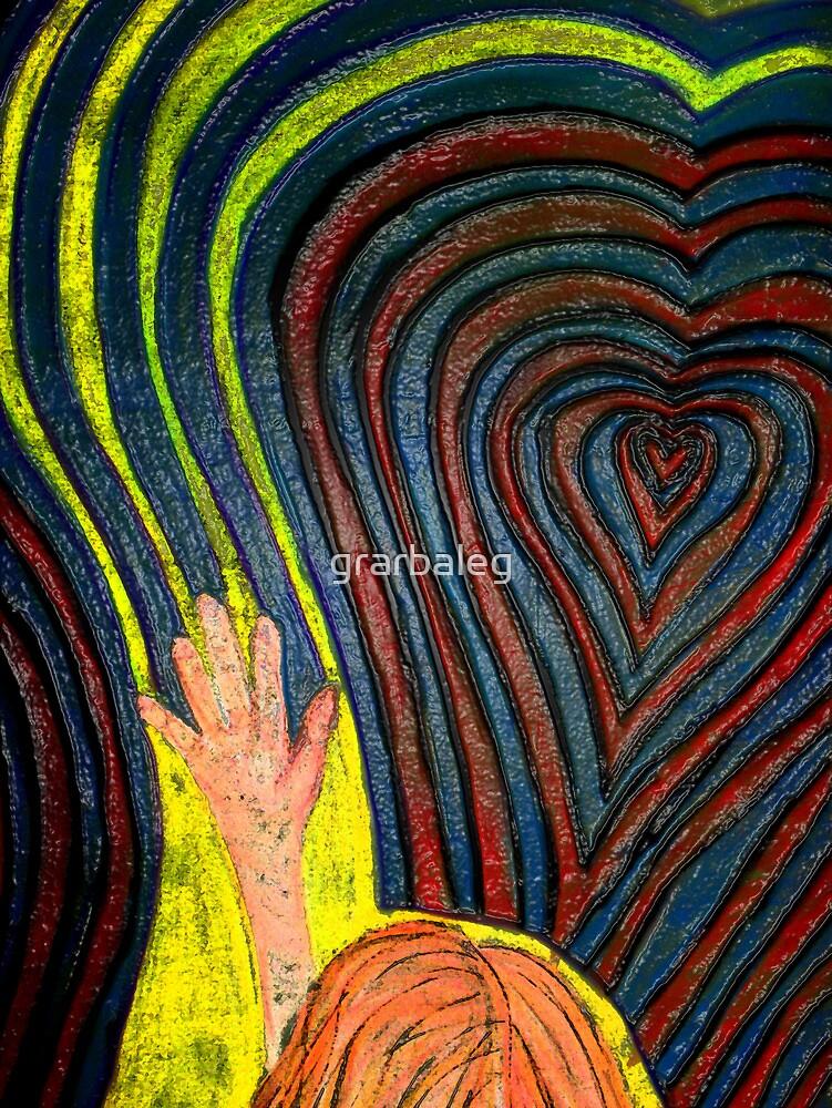 Waving, goodbye as she follows her heart.  by grarbaleg