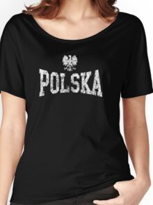 Vintage Polska Eagle Women's Relaxed Fit T-Shirt