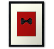 Simple Black Bow Tie Musician Framed Print