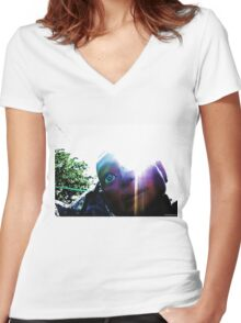 The Glory of Hugo, Man of a Thousand Faces Women's Fitted V-Neck T-Shirt