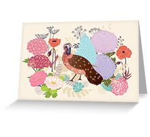 Antique Garden Greeting Card