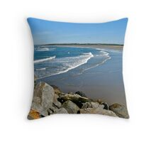 Port Maitland Beach Throw Pillow