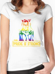 The Pride Is Strong (With Us All) Women's Fitted Scoop T-Shirt