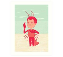 Lobster Boy Art Print