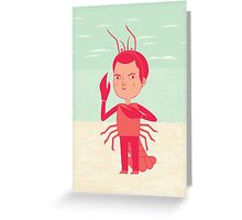 Lobster Boy Greeting Card