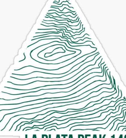 La Plata Peak Topo Sticker