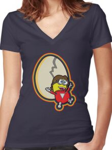 Mork and Minion Women's Fitted V-Neck T-Shirt