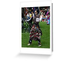 jingle dress dancer Greeting Card