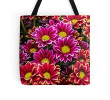 Asteraceae Vibrant Red and Pink Emotion Tote Bag
