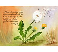 Blown in the wind - 1 Peter 3:15 Photographic Print