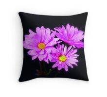 3 beautiful flowers Throw Pillow